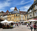 The medieval market square in Sarlat